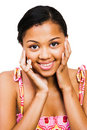 African American Teenage Girl Smiling Royalty Free Stock Photo
