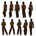 African American Teenager Illustration Silhouette Royalty Free Stock Image