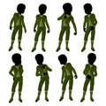 African American Victorian Boy Illustration Stock Photo