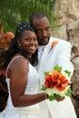 African american wedding couple Stock Photo