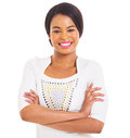 African american woman portrait of beautiful young isolated on white background Royalty Free Stock Photo