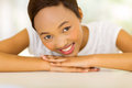 African american woman relaxing gorgeous young at home Stock Images