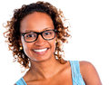 African american woman smiling isolated over a white background Stock Images