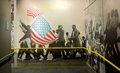 African Americans marching wall mural exhibit inside the National Civil Rights Museum at the Lorraine Motel