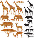 African Animal Silhouettes