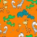 African animals pattern2-01