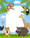 African Animals Photo Frame [3] Royalty Free Stock Photo