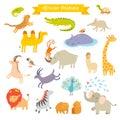 African Animals  Vector Illust...
