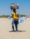 African beach vendor