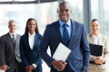 African businessman businesspeople handsome with group of on background Royalty Free Stock Images