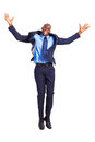 African businessman jumping Stock Images