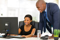 African businesspeople working professional on computer Royalty Free Stock Photo