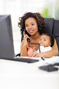African businesswoman baby successful young american with at office Royalty Free Stock Photography