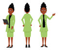 African businesswoman cartoon illustration of an Royalty Free Stock Images