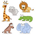African Cartoon Animals Royalty Free Stock Photos