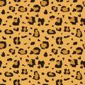 African cheetah, leopard fur vector seamless texture, fabric print
