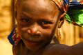 African child of fulani origin shot in a remote village of the sub saharan sahel savanna Stock Photos
