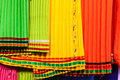 African Cloth Fabric Close-up Colors Royalty Free Stock Photography
