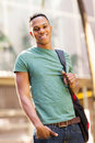 African college boy cute american on campus Stock Photography
