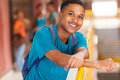 African college boy happy portrait Royalty Free Stock Photography