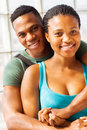 African college couple happy hugging Royalty Free Stock Images