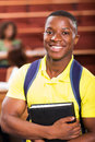 African college student good looking american in lecture room Stock Photography
