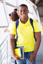 African college student happy american on campus Royalty Free Stock Photography
