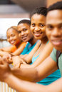 African college students beautiful american on campus Royalty Free Stock Photos