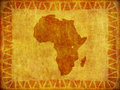 African Continent Grunge Background Royalty Free Stock Photo