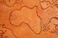 African continent in wood Royalty Free Stock Photo