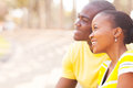 African couple dating portrait of cute Royalty Free Stock Image