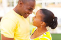 African couple love happy american in Stock Images