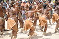 African dancers in a joyous mood Royalty Free Stock Photo