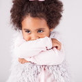 African descent child portrait of a beautiful Royalty Free Stock Photo