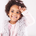 African descent child portrait of a beautiful Royalty Free Stock Photos