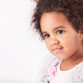 African descent child portrait of a beautiful Stock Images