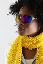 African disco woman. Royalty Free Stock Images