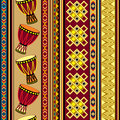 African drum background seamless with ornament Royalty Free Stock Photography