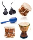 African drums and percussion Royalty Free Stock Photo