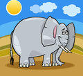 African elephant cartoon illustration Royalty Free Stock Photo