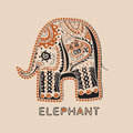 African elephant with patterns eps Stock Photography