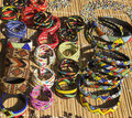 African ethnic handmade beads necklaces and bracelets. Royalty Free Stock Photo
