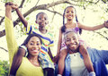 African Family Happiness Holiday Vacation Activity Concept Royalty Free Stock Photo