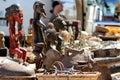African figures on the flea market in berlin Stock Photos