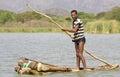 African fisherman Royalty Free Stock Photo