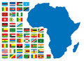 African flags Royalty Free Stock Image