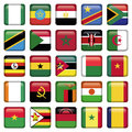 African flags square icons zip includes dpi jpg illustrator cs eps vector with transparency Royalty Free Stock Images