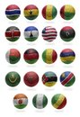 African Football  from G to R Royalty Free Stock Photo