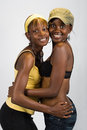 African girls couple Royalty Free Stock Photo
