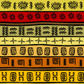 African hand drawn ethnic pattern tribal backgrou background seamless Royalty Free Stock Image